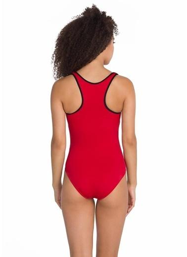 Dagi Fermuarlı Yüzücü Mayo Kırmızı